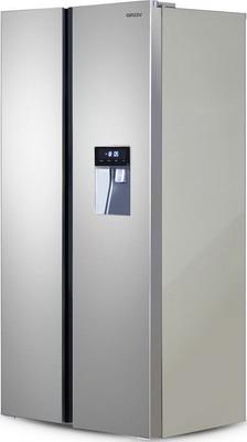 Холодильник Side by Side Ginzzu NFK-467 стальной холодильник side by side ginzzu nfk 530 черный