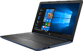 Ноутбук HP 15-da 0196 ur blue (4AZ 42 EA) hp 15 ac 001 ur n2k 26 ea
