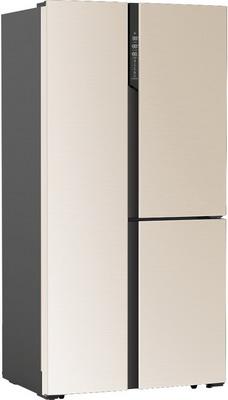 лучшая цена Холодильник Side by Side Ginzzu NFK-610 золотистое стекло