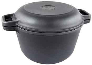 Кастрюля-казан НМП 6830 с крышкой-сковородой 3 л кастрюля nova tour инферно с крышкой сковородой цвет металлик красный 1 7 л
