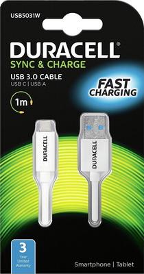 Кабель Duracell USB 5031 W-RU автомобильное зарядное устройство универсальный data кабель duracell dr 5031 w ru