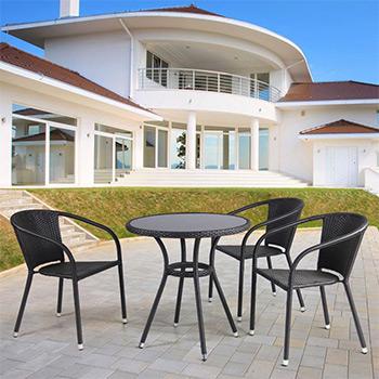 Комплект мебели Афина T 282 ANS/Y 137 C-W 53 Brown 3Pcs
