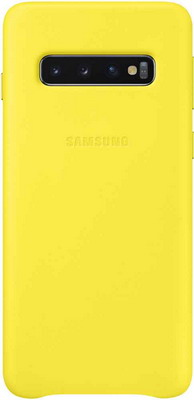 Чехол (клип-кейс) Samsung S 10 (G 973) Leather Cover yellow EF-VG 973 LYEGRU рамка samsung vg scfm43dw ru