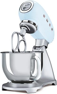 Миксер Smeg SMF02PBEU пастельный голубой тостер на 4 ломтика smeg пастельный голубой tsf03pbeu