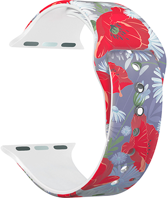 ремешок sport band для смарт часов apple watch 38 40 мм черный с белым Ремешок для часов Lyambda для Apple Watch 38/40 mm ALYA DS-APF06-40-12