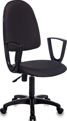 цена Кресло Бюрократ CH-1300N/BLACK черный онлайн в 2017 году