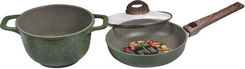 Набор посуды Panairo OliverStone MAX №2 из 3-х предметов O-2-NAB сотейник panairo oliverstone max 26см o 26 s k