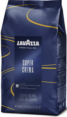 Кофе зерновой Lavazza Super Crema Bag 1кг