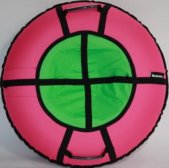 Тюбинг Hubster Ринг Хайп розовый-салатовый 90 см во5857-1
