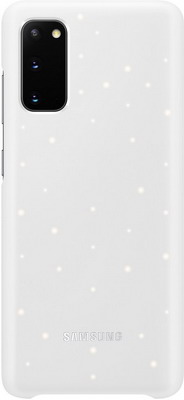 Чехол (клип-кейс) Samsung S20 (G980) LED-Cover white EF-KG980CWEGRU аксессуар чехол samsung galaxy note 8 led view cover gold ef nn950pfegru