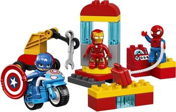 Конструктор Lego DUPLO Super Heroes Лаборатория супергероев 10921 конструктор lego super heroes mighty micros 76070 чудо женщина против думсдэя