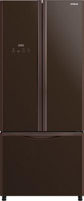 Двухкамерный холодильник Hitachi R-WB 562 PU9 GBW коричневое стекло фото