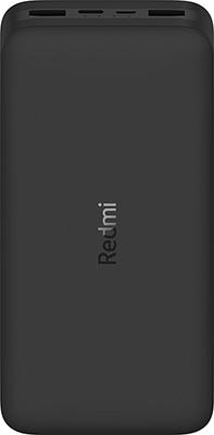 Аккумулятор портативный Xiaomi Mi Power Bank REDMI black 20000mAh (VXN4304GL) PB200LZM