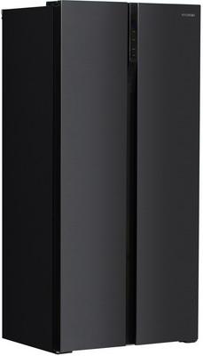 Холодильник Side by Side Hyundai CS4505F черный