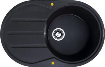 Кухонная мойка Zigmund amp Shtain KREIS OV 770 D черный базальт