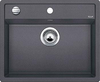 Кухонная мойка BLANCO DALAGO 6 SILGRANIT темная скала с клапаном-автоматом мойка blanco dalago 45 silgranit puradur 518846 тёмная скала размер шхд 46 5см х 51см