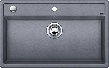 Кухонная мойка BLANCO DALAGO 8 SILGRANIT алюметаллик с клапаном-автоматом кухонная мойка blanco dalago 45 f silgranit кофе с клапаном автоматом