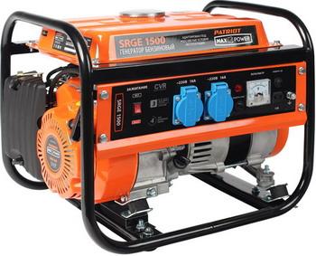 Фото - Электрический генератор и электростанция Patriot Max Power SRGE 1500 генератор бензиновый patriot max power srge 6500e