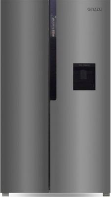 Холодильник Side by Side Ginzzu NFK-531 стальной холодильник side by side ginzzu nfk 530 черный