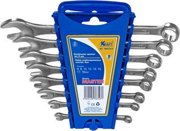 Набор комбинированных ключей Kraft Master KT 700761 круг лепестковый торцевой клт makita d 28070