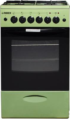 Комбинированная плита Reex CGE-540 ecGn зеленый газовая плита reex cge 540 ecbk