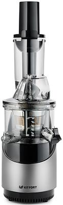 Соковыжималка универсальная Kitfort КТ-1106-2 серебристый металлик соковыжималка kitfort кт 1106 2 шнековая серебристый и черный