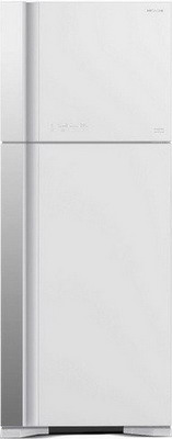 лучшая цена Двухкамерный холодильник Hitachi R-VG 542 PU3 GPW белое стекло