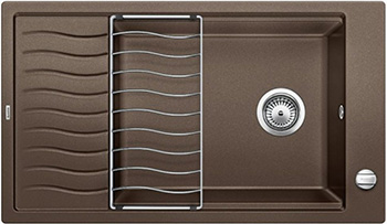 Кухонная мойка Blanco ELON XL 8 S кофе inFino 524869 кухонная мойка blanco elon xl 8 s жемчужный infino 524863