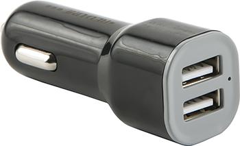 Автомобильное зарядное устройство Red Line Lite 2 USB (модель AC-1A) 1A черный зарядное устройство olmio 2xusb 2 1 1a white 38641