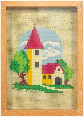 Вышивка 3Д,РК,рама,брелки,под. Белоснежка 106-EF Маленькая церковь