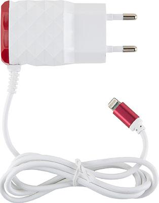 Сетевое зарядное устройство Red Line 2 USB и 8pin для Apple (модель NC-2.1AC) 2.1A красный