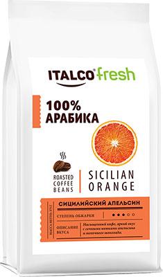 Фото - Кофе в зернах Italco Сицилийский апельсин (Sicilian orange) ароматизированный 375 г кофе в зернах italco fresh irish cream ирландский крем ароматизированный 375 г