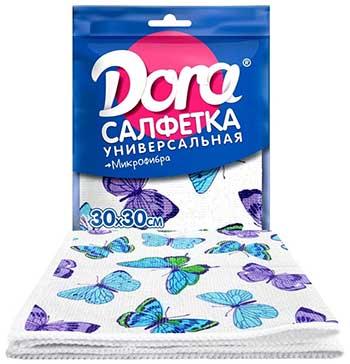 Для ручной очистки поверхностей Dora Салфетка из микрофибры с цветным рисунком салфетка из микрофибры qualita антипыль 1 мл