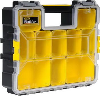 Органайзер Stanley FatMax Deep Pro Plastic Latch 1-97-521 органайзер профессиональный fatmax shallow pro metal latch пластмассовый 14920 1 97 517