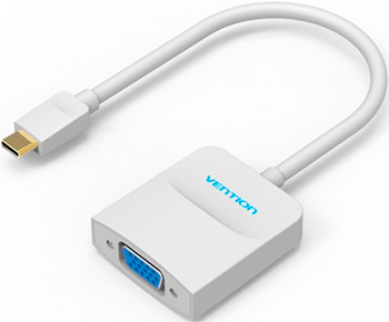 Мультимедиа конвертер Vention USB Type C M/VGA 15 F белый type c to vga usb 3 0 usb c 3 in 1 converter
