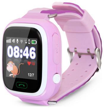 Детские часы-телефон Ginzzu 505 pink 1.22'' Touch micro-SIM 14717 детские часы телефон ginzzu 16139 505 black 1 22 touch micro sim