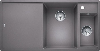 Кухонная мойка Blanco AXIA III 6 S алюметаллик чаша справа доска стекло c кл.-авт. InFino 523474 кухонная мойка blanco axia iii 6s infino мускат 523470