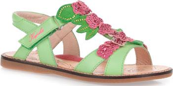 цена Туфли открытые Kapika 32252-1 33 размер цвет зеленый онлайн в 2017 году