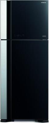 Двухкамерный холодильник Hitachi R-VG 542 PU7 GBK чёрное стекло
