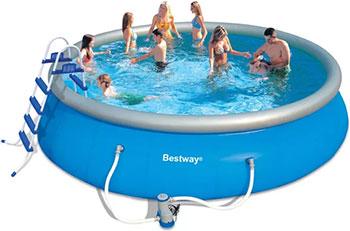 Бассейн BestWay с надувным бортом 57212 BW каркасный бассейн bestway 366х122 см 10250л без аксессуаров 56420 bw 14471