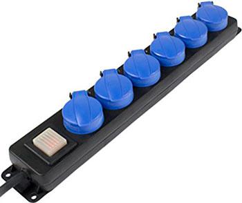 Удлинитель SCHWABE 5 розеток 1.5м влагозащищенный кабель 16А 38609 AS удлинитель schwabe 3 sockets 1 4m black 11362as