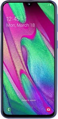 Смартфон Samsung Galaxy A40 32GB SM-A405F (2019) синий смартфон samsung galaxy s7 sm g930f 32gb black