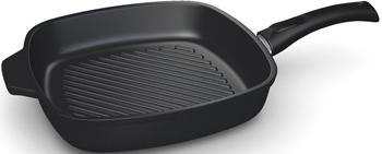 Квадратная сковорода-гриль НМП 94028 G Титан (полимер-керам) с/р