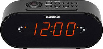 Радиочасы Telefunken TF-1506 (черный с янтарным) цена и фото
