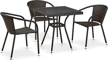 Комплект мебели Афина T 282 BNT/Y 137 C-W 53 Brown 3Pcs