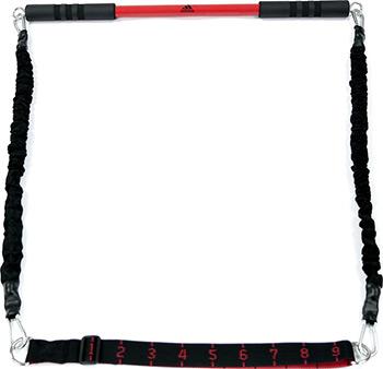 Фото - Гриф с эспандерами Adidas ADAC-11403 (черный) массажный валик adidas adac 11505bk 33 см черный