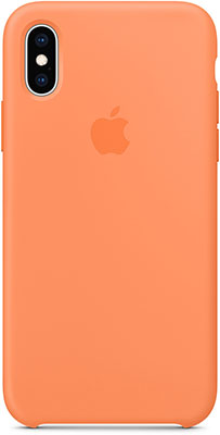 клип кейс guess silicone для apple iphone xs черный Чехол (клип-кейс) Apple Silicone Case для iPhone XS цвет (Papaya) свежая папайя MVF22ZM/A