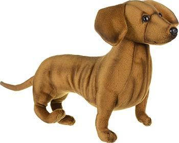 цены Мягкая игрушка Hansa Creation 6420 Такса стоящая 42 см