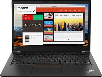 Ноутбук Lenovo ThinkPad T480s i7 (20L7001HRT) Черный ноутбук 16 гб оперативной памяти
