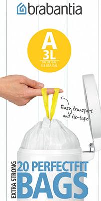 Мешки для мусорных ведер Brabantia 3л 20шт 311727 кресла мешки